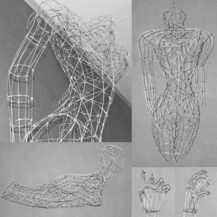 a Handmade, work in progress, life-sized wire sculpture. #workinprogress #wire #sculpture #handmade #contemporaryart #myart #themindisright