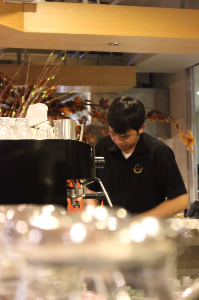 Our barista..