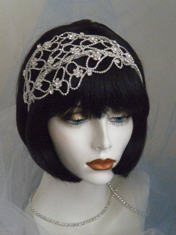 1920's Headpiece Flapper Headband Gatsby by elisevictoriadesigns, $98.00