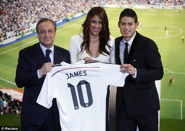 James Rodriguez (COL) - From AS Monaco (FRA) to Real Madrid (ESP) - 2014 - 60 million pounds