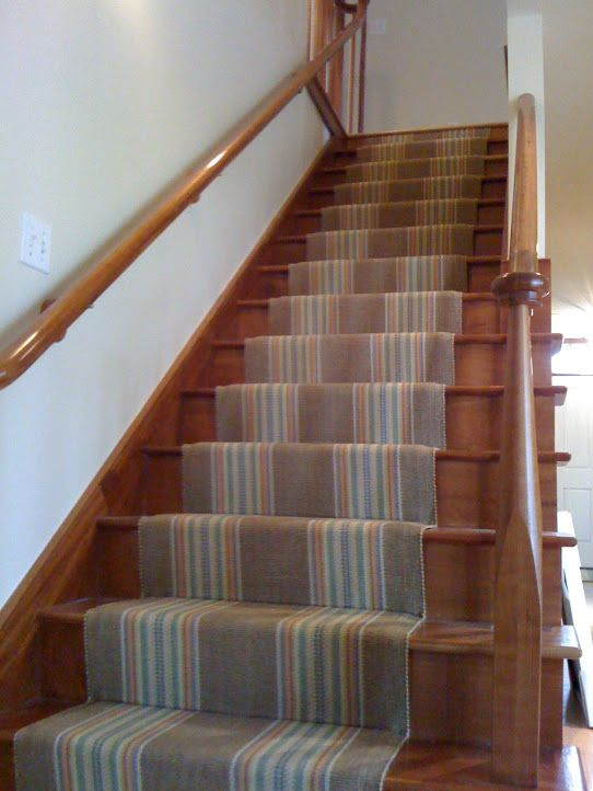 Stair Rugs | Stripe Stair Runner Installation By Colony Rug