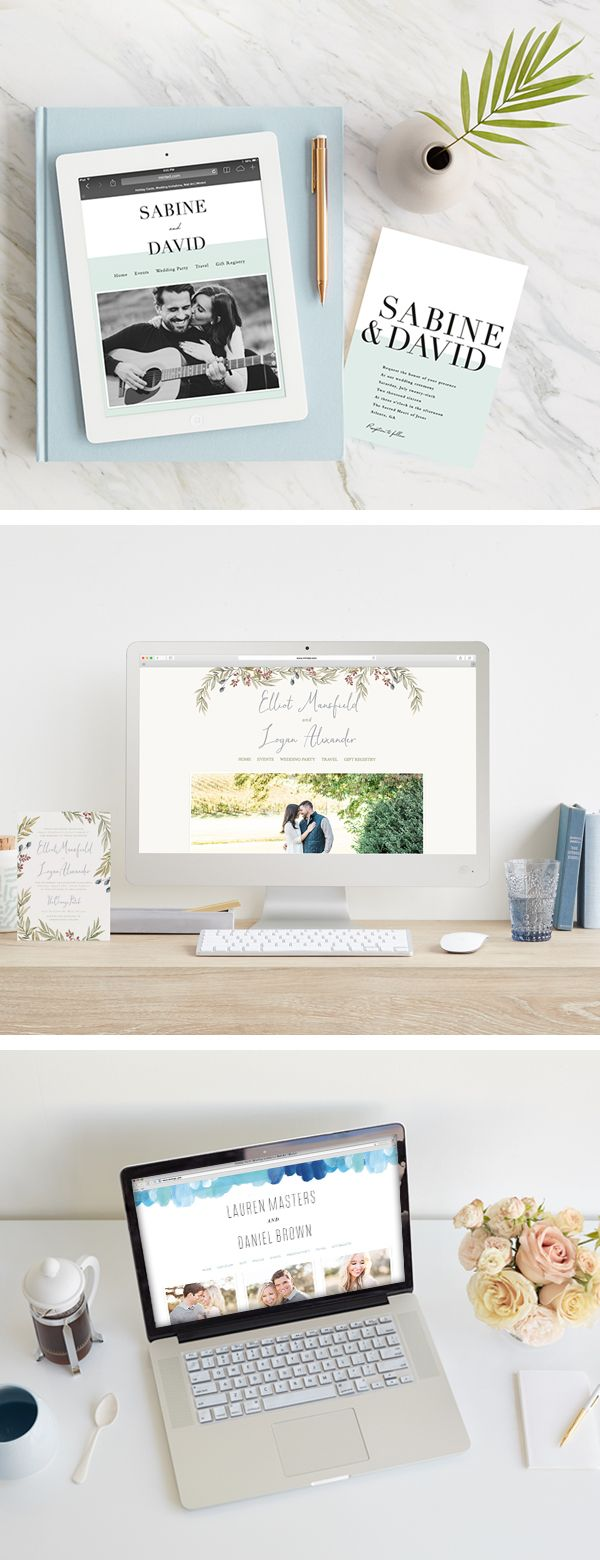 Free Custom Wedding Websites! Browse hundreds of unique website designs from our community of independent artists.