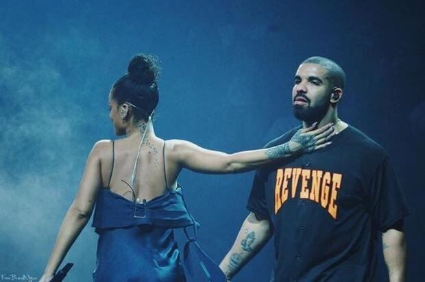 Rihanna performs with Drake during his Summer Sixteen Tour in Miami on September 1, 2016