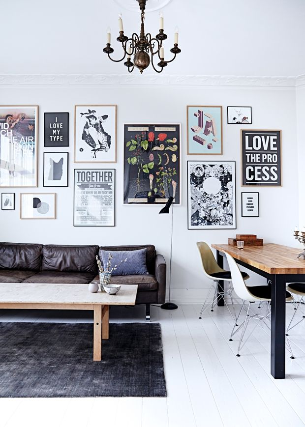 The secret behind a perfect Scandi picture wall