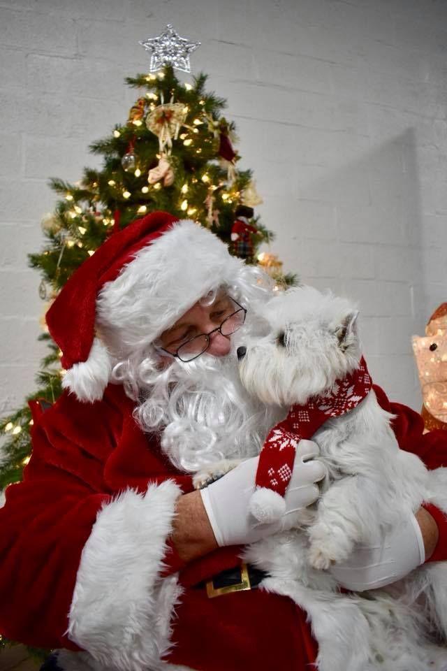 Wonder what Finley is telling Santa. Merry Christmas!