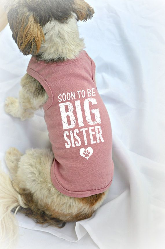 Soon to be Big Sister Dog Tank Top. Small Pet by RedemptionDog