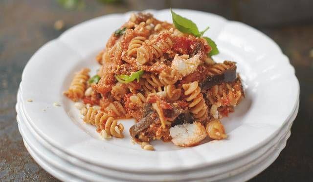 Happiness Pasta Sweet Tomato, Aubergine and Ricotta