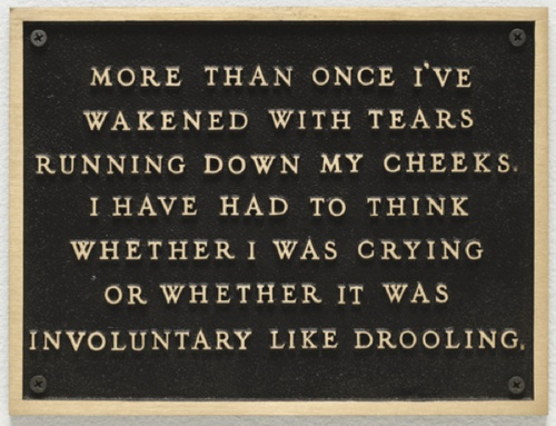 Jenny Holzer, Living: More than once I've wakened with tears…, 1980-82