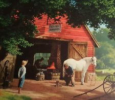 Horse and Buggy Days By Paul Detlefsen High Quality Lithograph Vintage Print