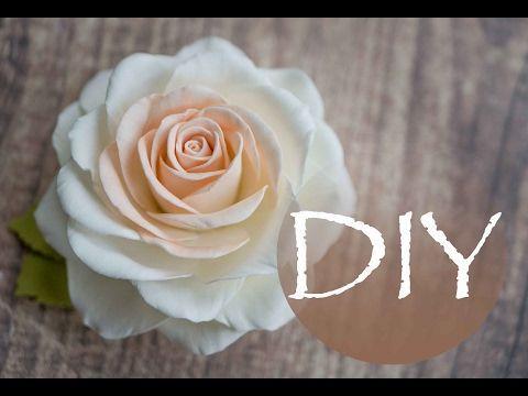 Реалистичная роза из фоамирана , цветы из фома Tsvoric - YouTube