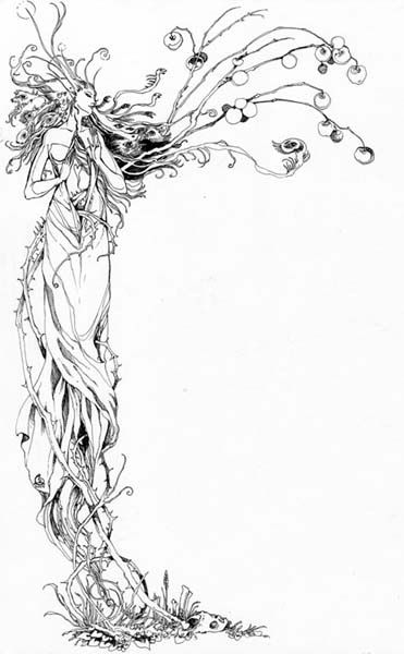 For some reason I had not thought about the possibility of a fruit-bearing tree dryad.