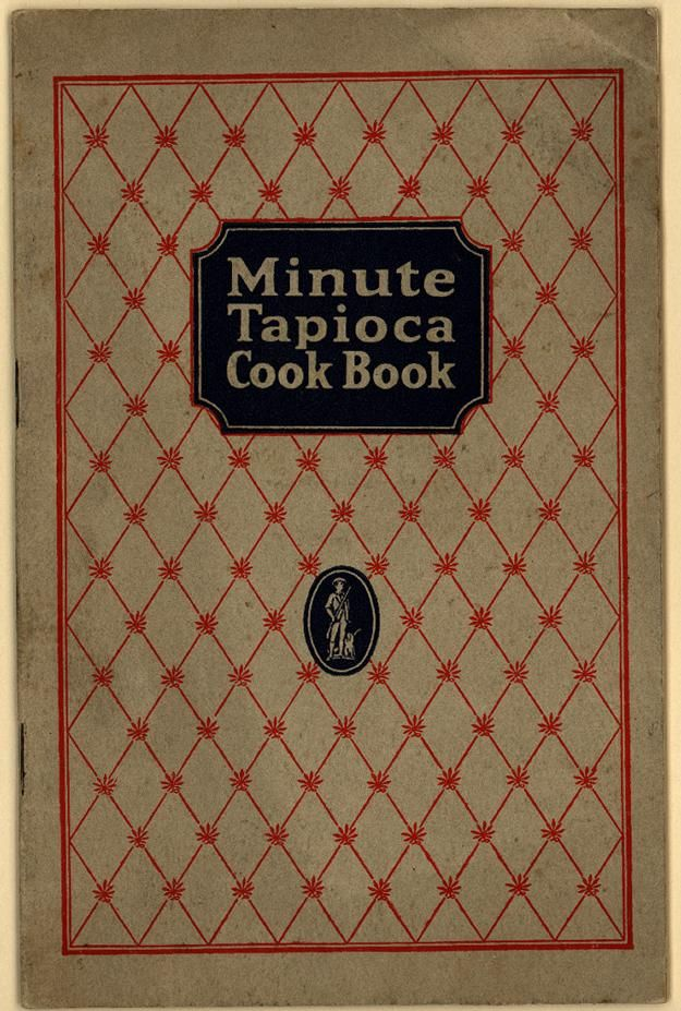 Minute Tapioca Cook Book. From Duke Digital Collections. Collection: Emergence of Advertising in America. Racial content: Illustration, tapioca production on South Seas plantation. Images of each page from this item are available. Searchable text is only available for the title page, index, and/or contents pages. Chapter headings:  12,000 Miles to Your Table -  12,000 (cont.); Good Foods for Children; For the Sick and Convalescent -  Planning the Family Diet; General Directions for Preparing…