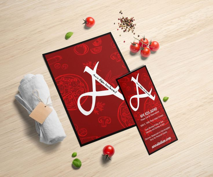 Nicole Esche Graphic Design, Milwaukee, Ann's Italian ...