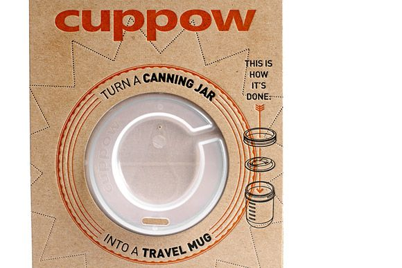 cuppow: this would be great to use with my smoothies!Travel Mugs, Canning Jars, Cuppowturn Jars, Coffe Cups, Awesome Ideas, Mason Jars, Products, Jars Lids, Organic Food