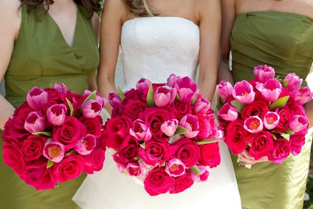 Fuchsia flowers at the Brazilian Court in this Palm Beach wedding by claudiaoliver.com