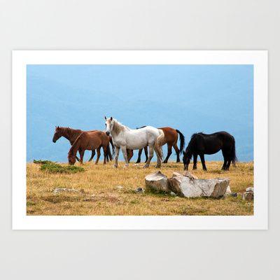 Mountain Horses Art Print by marialivia16 - $14.04
