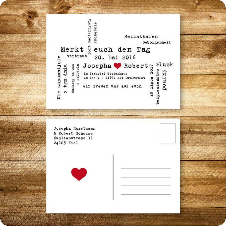Einladungskarten Hochzeit, Hamburg