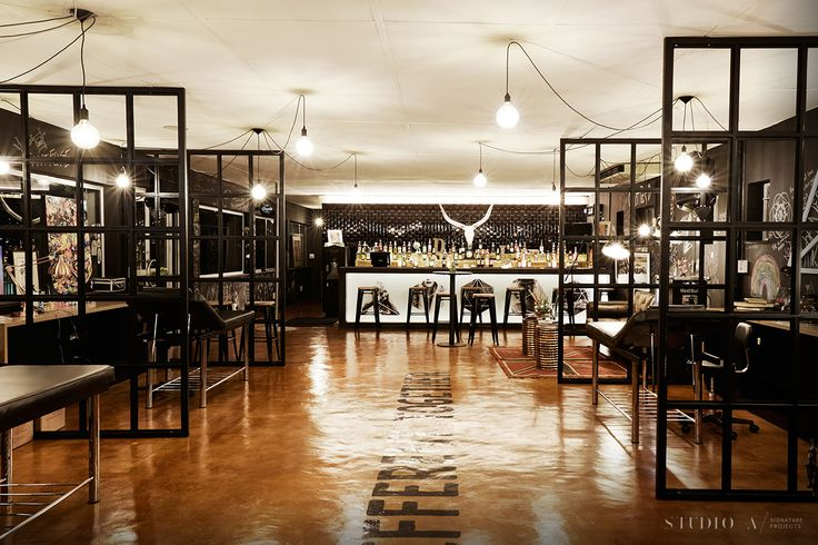 Studio A Signature Projects / Johannesburg, South Africa. Dakota Lee Tattoo Parlour / Bar Design
