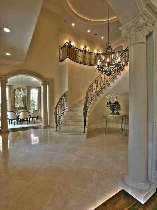 Travertine Foyer Design : Best images about foyer floors travertine or black