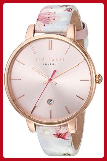 Ted Baker Women's 'KATE' Quartz Stainless Steel and Leather Dress WatchMulti Color (Model: 10031541) - All about women (*Amazon Partner-Link)