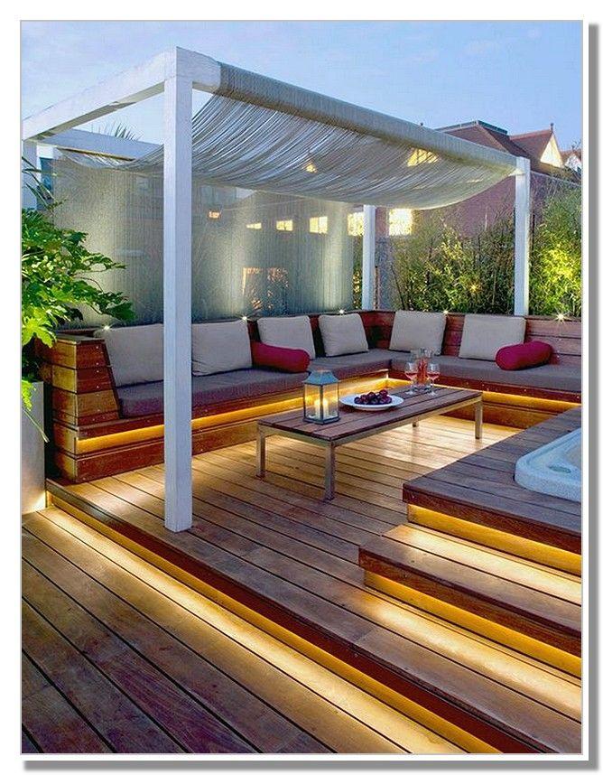 Modern Pergola With Canopy Ideas Terrasseideer Udendors Jacuzzi Udendorsmobler