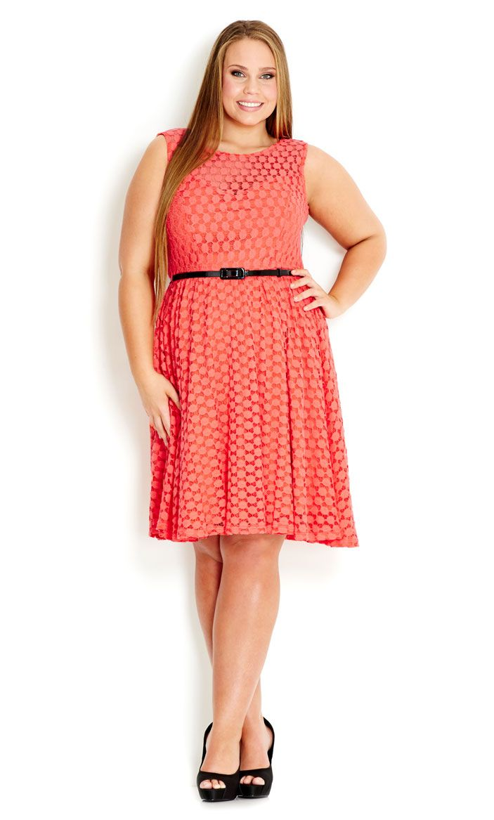 Athena massey red alert pictures to pin on pinterest - City Chic Lace Swing Dress Women S Plus Size Fashion