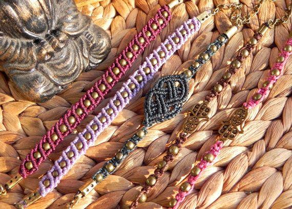 Hey, I found this really awesome Etsy listing at https://www.etsy.com/listing/252486579/macrame-bracelets-boho-hippie-gypsy