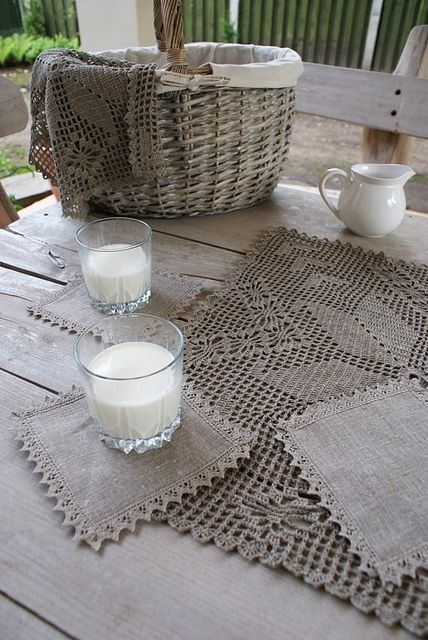 ...coasters collection from linen... by SandraStJu, via Flickr