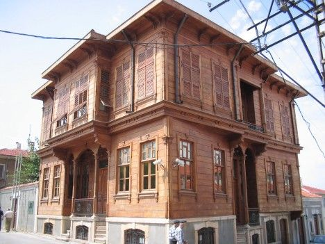 historic wooden houses-Edirne-Türkiye