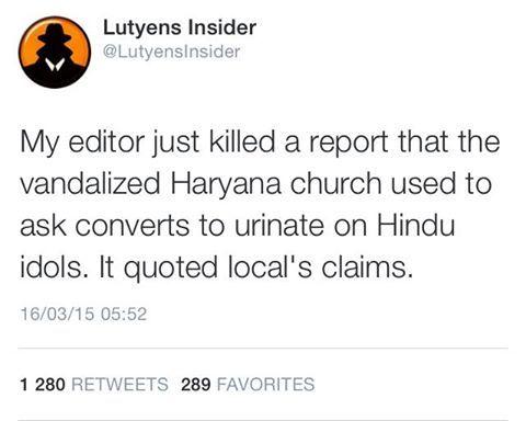 vandalized Haryana church used to ask Hindu converts to urinate on Hindu idols as per locals   #TalibaniMEDIA