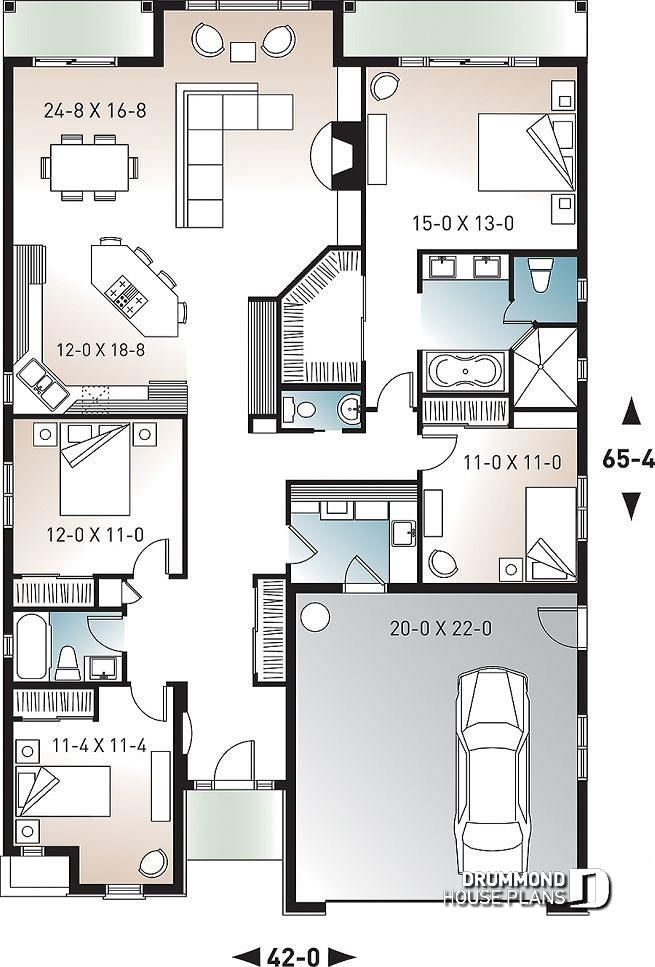 1st Level 4 Bedroom One Storey Craftsman With Ample Storage And