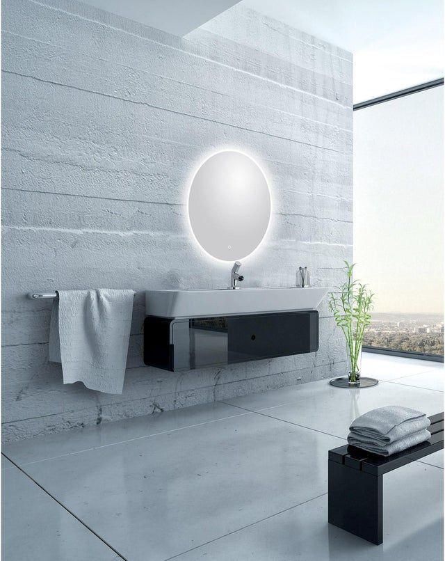 Miroir Lumineux Avec Eclairage Integre L 75 X H 75 Cm Renzo Miroir Lumineux Eclairage Miroir De Salle De Bain
