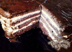 Шоколадно-шоколадный торт (без отрубей) по Дюкану