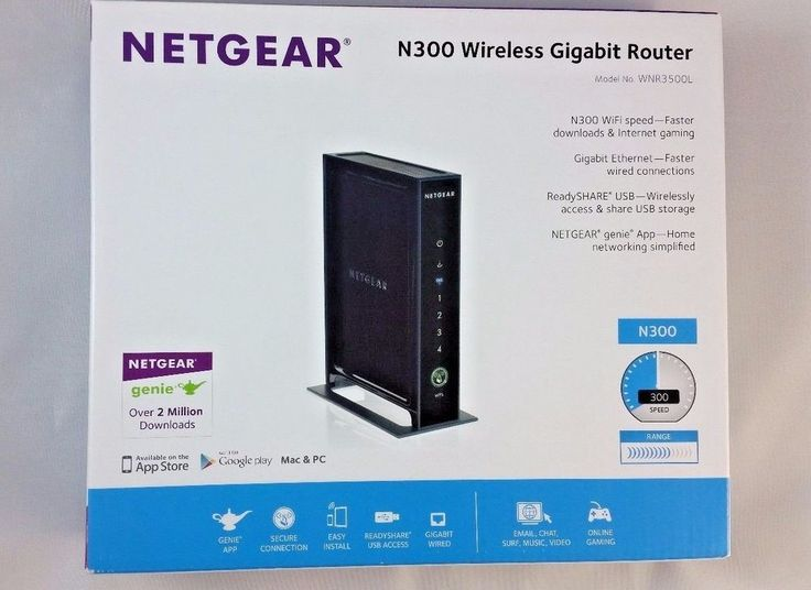 Netgear WNR3500Lv2 4-Port Gigabit Wireless N Router (WNR3500L-100NAS) #Netgear