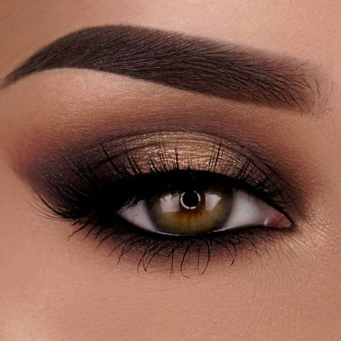 Flattering Ideas for Light Brown Eyes Makeup ★ See more: http://glaminati.com/light-brown-eyes-makeup/