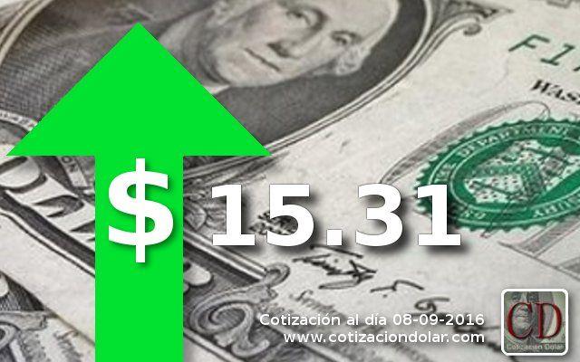 El dólar cierra en alza a $ 15,31