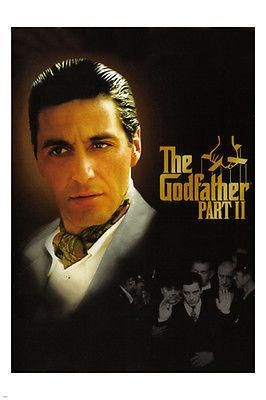 THE GODFATHER PART II movie poster AL PACINO gangsters mafia CRIME 24X36