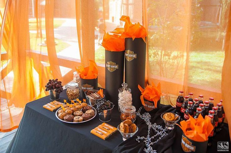 Harley Davidson biker birthday party! See more party planning ideas at CatchMyParty.com!