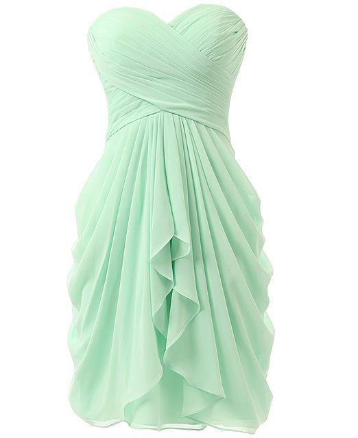 KISSBRIDAL Women's A-line Chiffon Bridesmaid Dress Homecoming Dance Gown KB219 at Amazon Women's Clothing store: