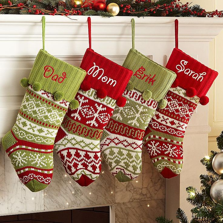 Ideas For Christmas Stockings 61 best knit christmas stockings images on pinterest | christmas