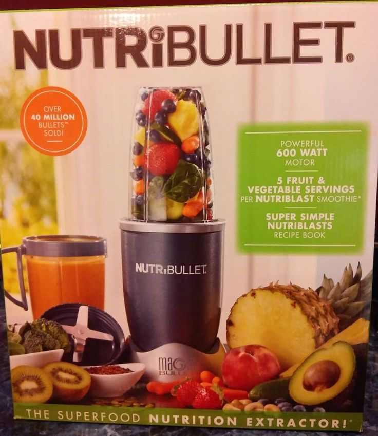 NUTRIBULLET 600-WATT 8-PC SUPERFOOD NUTRITION EXTRACTOR & BLENDER , NEW IN BOX  | eBay