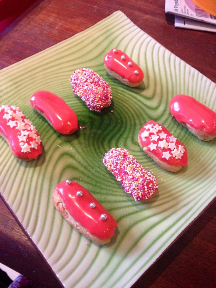 rasberry eclairs by choux la la