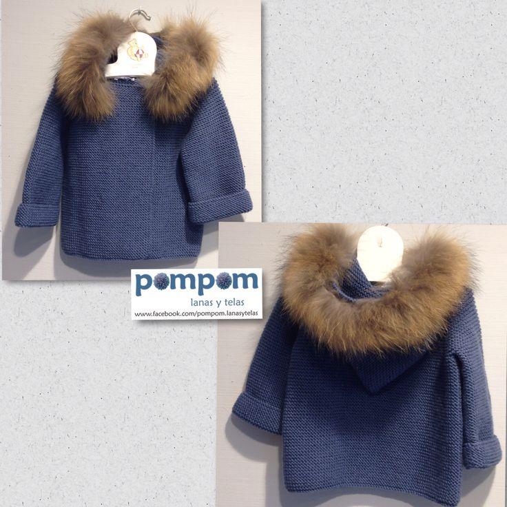 Abrigo lana merino #hechoamano