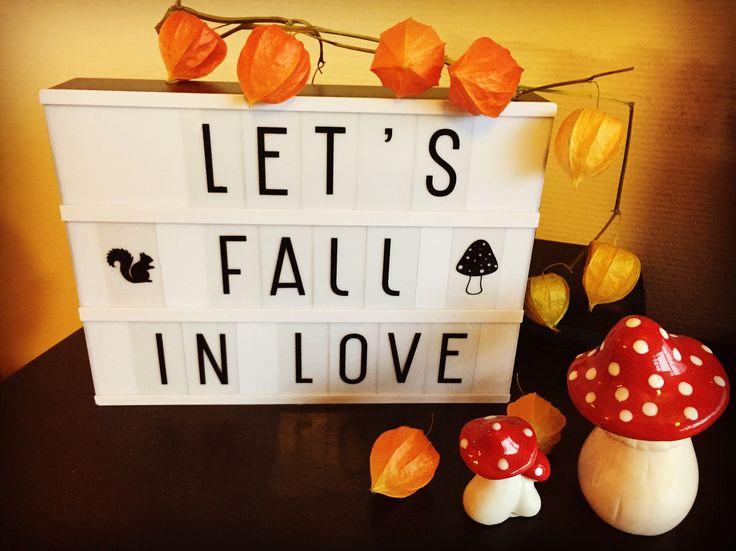 Herfstdecoratie met lightbox #lightbox #herfst #herfstdecoratie #fall