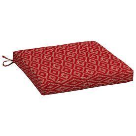 Garden Treasures Geometric Red Diamond Ruby Universal Seat Pad Tg2l080b