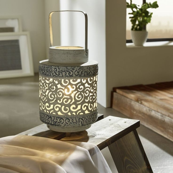 Eglo 49275 Talbot Grey Lantern Table Lamp