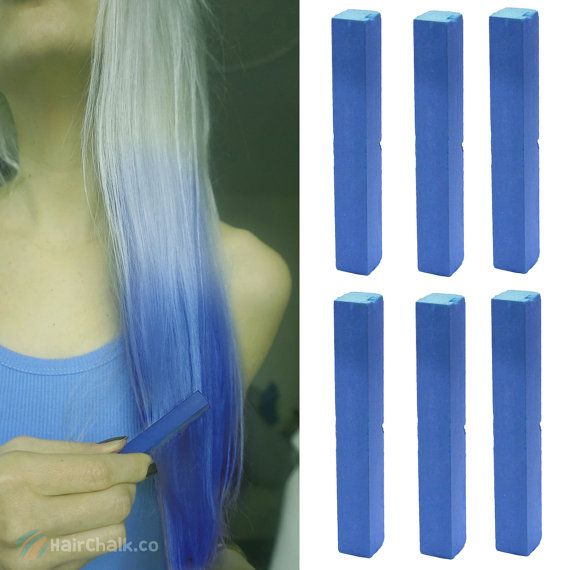 6 Best Temporary Royal Blue hair Dye for dark and light hair - Set of 6 | DIY Hilary Duff Blue hair Chalk for easy and simple hair coloring