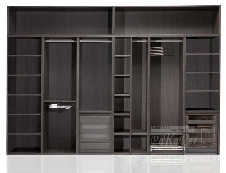 Mejores 12 im genes de armarios interiores en pinterest - Distribuciones de armarios empotrados ...