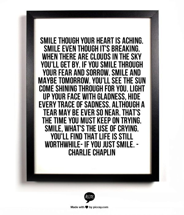 SMILE - lyrics by Charlie Chaplin, I have loved this song ever since I heard it on My Girl