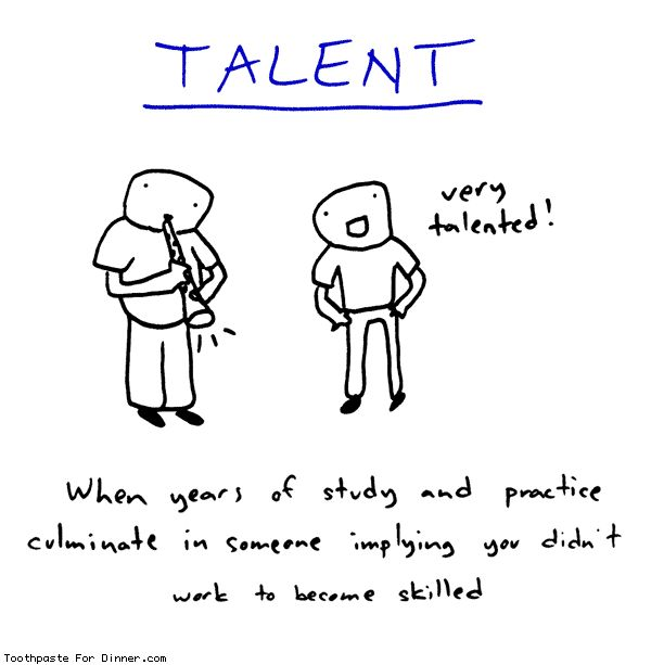 Comic by Toothpaste For Dinner: the implication of talent